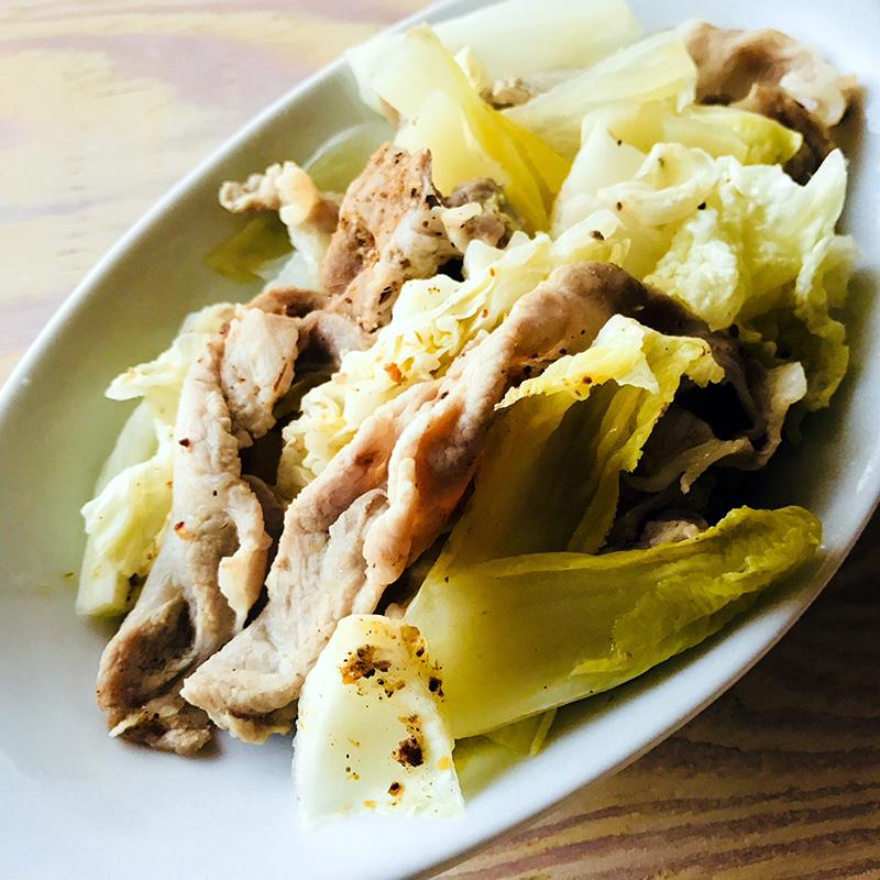豚肉と白菜のうまだし重ね煮