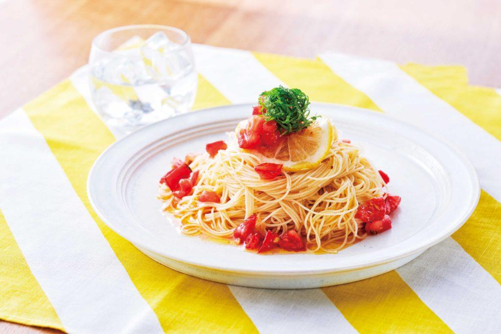 レモン トマトパスタ
