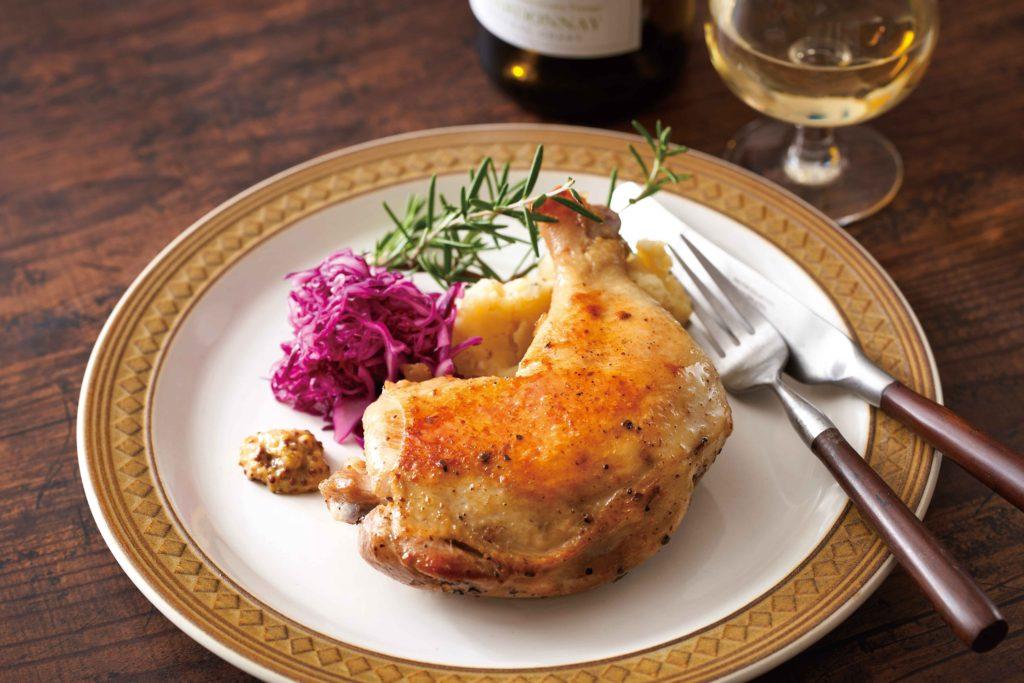 【うまだし】レシピ_骨付き鶏のうまだし炊飯器コンフィ_s